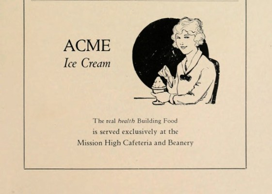 Mitchell's wouldn't open for another 25 ears, but the Mission and ice cream go way back.