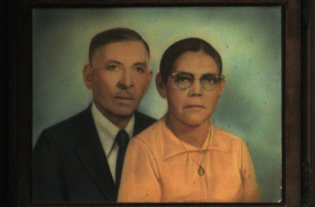 Portrait of the original owners of Puerto Alegre Restaurant.  Photo by Anomalous_A