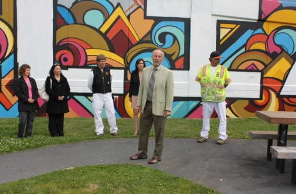 Recreation and Park Department Director, Phil Ginsburg, who helped waive the license fee for the mural.