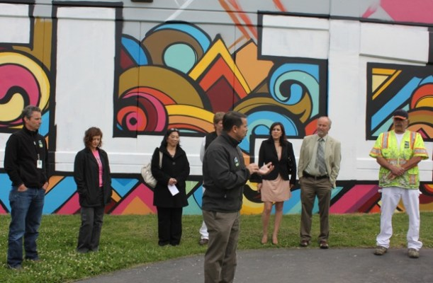 Larry Allegre, principle at Buena Vista Elementary, who said the mural gave Buena Vista's students a chance to contribute something to the community.