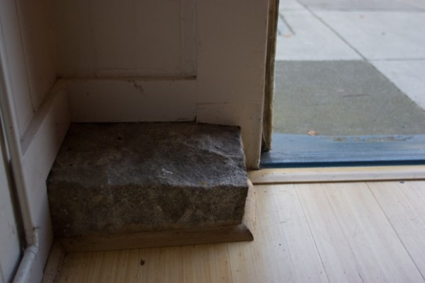 The original cornerstone, in its place…