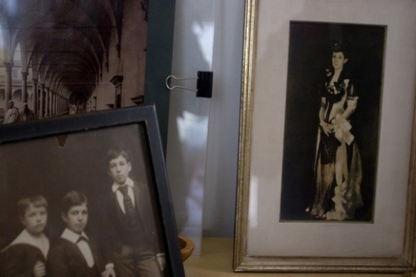 Family history displayed in the other part of the congregation hall in the home of Carlo and Lisa Middione.
