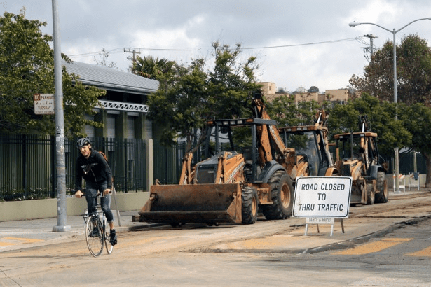 Construction at Mission Streets last years caused some detours. Photo by Jamie Goldberg