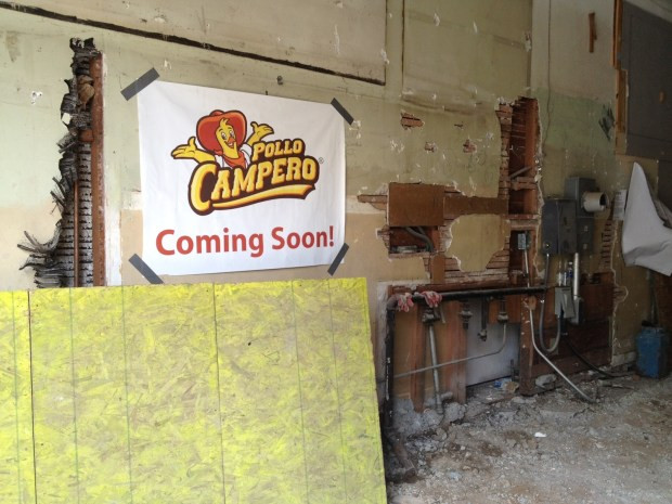 Construction has begun at the future site of Pollo Campero.
