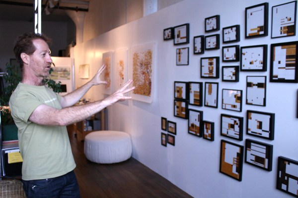 Architect and painter, Carlo Abruzzese in his live-work space.