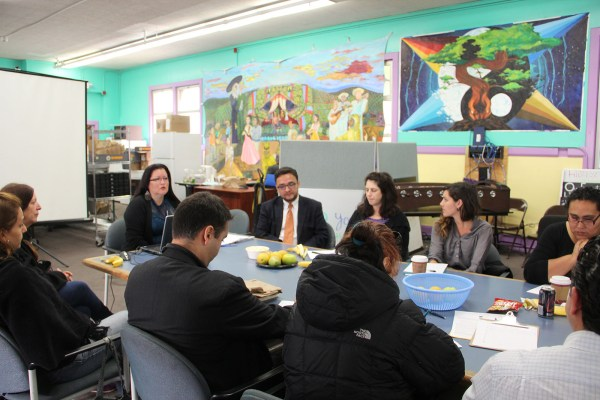 Community leaders of the Mission Peace Collaboration at a Thursday meeting.