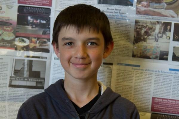 7th grade student Jonathan Valenzuela.