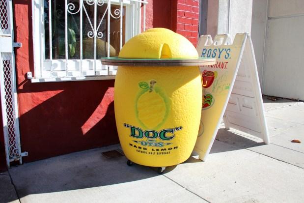 Image shows a plastic lemon