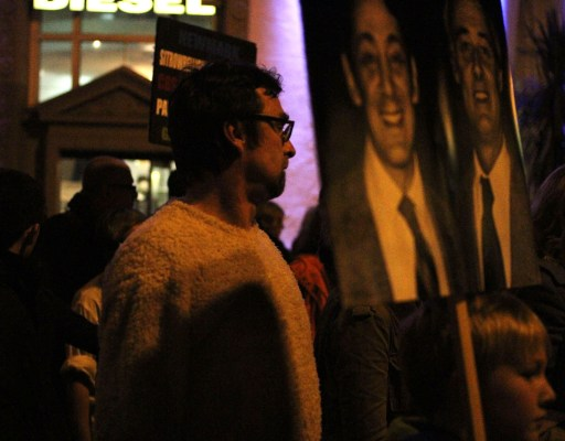 The November 27th vigil commemorated Harvey Milk, who was assassinated along with San Francisco Mayor George Moscone in 1978.