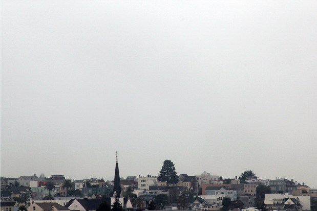 Looking out over the Mission on a cloudy day.