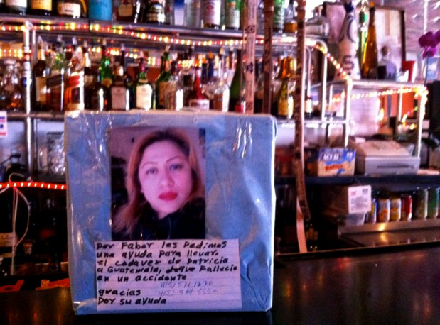 A photo of Silvia Patricia Tun Cun sits on the bar of La Terraza, where she was a server and bartender. Photo by Andrea Valencia.