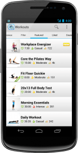 On the Workout Trainer app, users can tone muscles, build endurance, and improve flexibility.