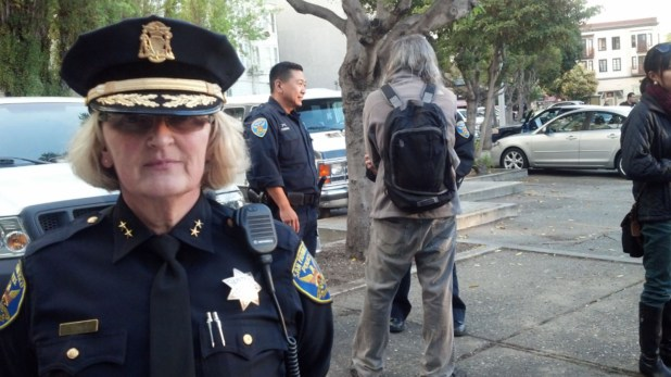 SFPD Deputy Chief Lyn Tomioka oversaw the gun buyback, along with more than eight officers.