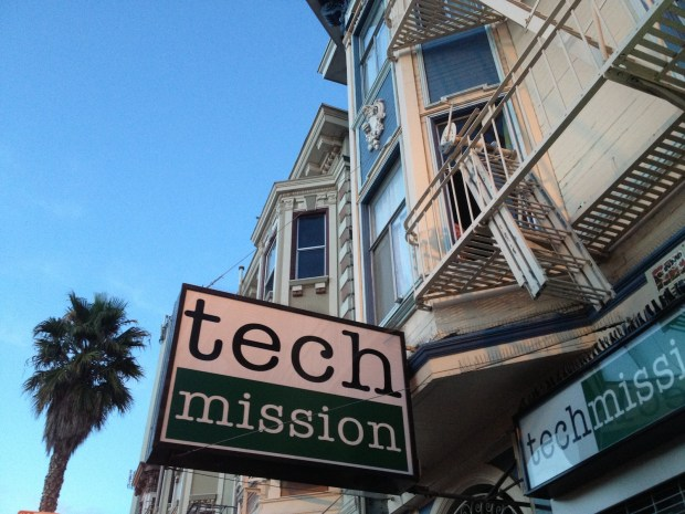 Business sign for Tech Mission