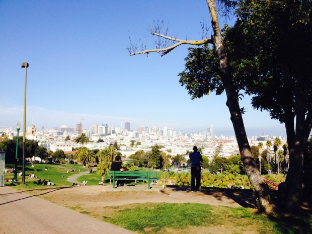 Dolores Park. Photo by Sarah McClure, November 2013.