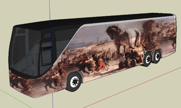 Trojan Horse Bus by Russell Blank