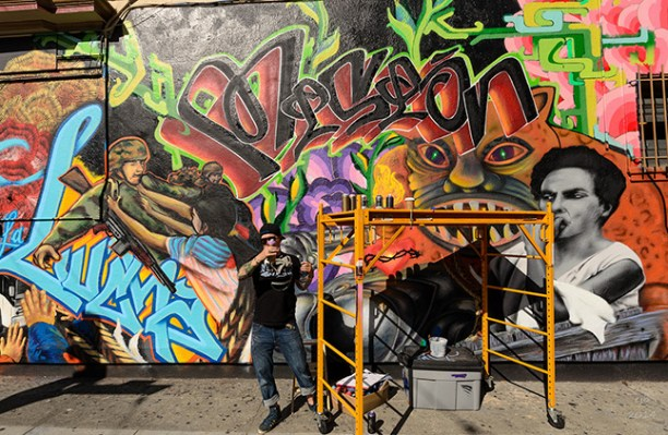 """Refreshing a mural by <a href=""""http://www.flickr.com/photos/ejbsf/12582343963/in/pool-sfmission"""">Ed Brownson</a>"""