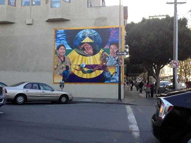 Galvan mural restored.