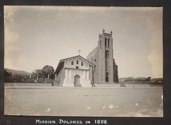 "Mission Dolores, 1898 <a href=""http://cdn.calisphere.org/data/13030/9q/hb4q2nb39q/files/hb4q2nb39q-FID400.jpg"">UC Berkeley</a>"