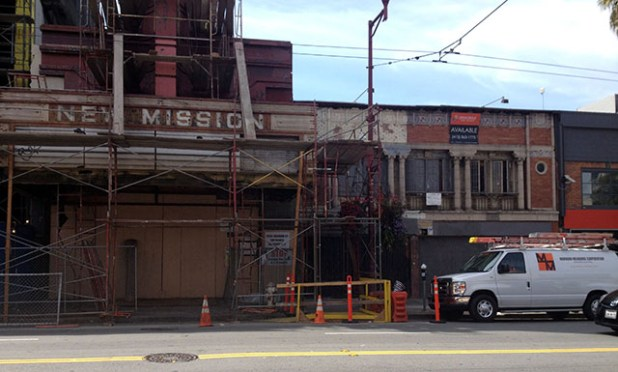 Weinstein's new gallery will be in the building next to the New Mission theater.