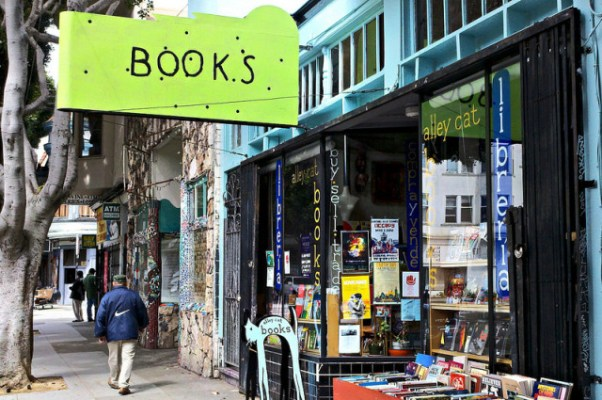 Alley Cat Bookstore on 24th Street in the Mission. Esther Reyes