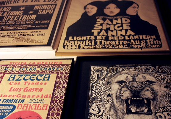 Detail of the one of the walls at his house with a collection of concert posters form the 70´s and 80´s. Photo by Claudia Escobar