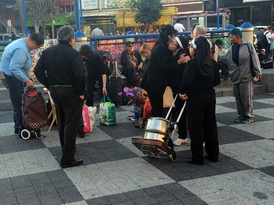 At the 16th Street Plaza. Photo by Alexandra Garretón
