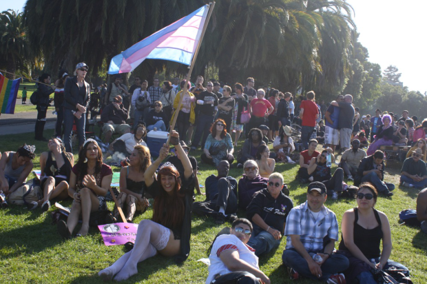 A scene from Trans March 2011. Photo by Octavio Lopez Raygoza.
