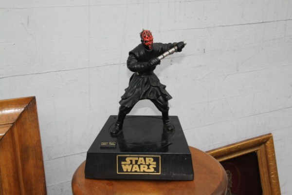 Darth Maul being sold at one of many street stalls this Sunday morning. Photo by Joe Rivano Barros.