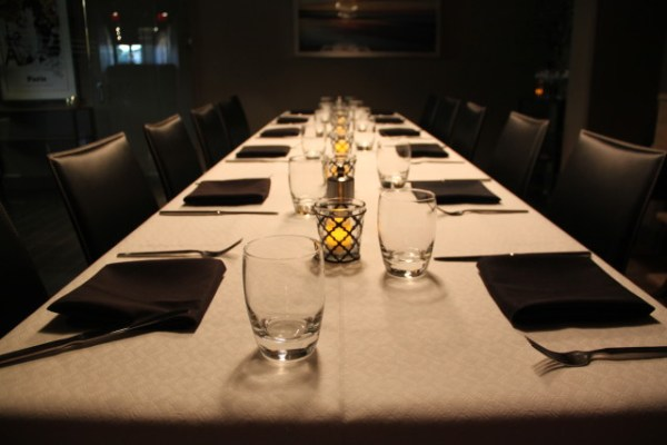 A private dining room in the back seats 12, available for reservation, or for use when the front is full. Photo by Joe Rivano Barros.
