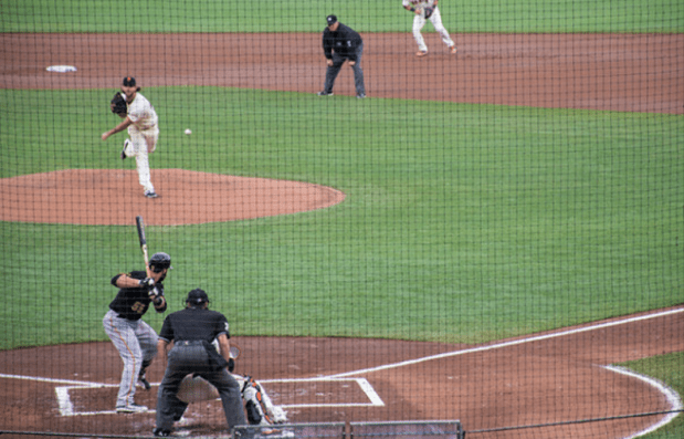 Bumgarner takes the mound Photo by Lola M. Chavez