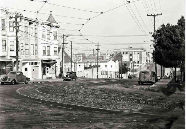 Folsom Street and Precita Avenue | December 7, 1943 | U20991_9 | John Henry Mentz, Market Street Railway Photographer
