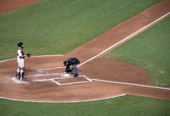 Maybe the Giants could see home plate better in August. Photo by Lola M. Chavez