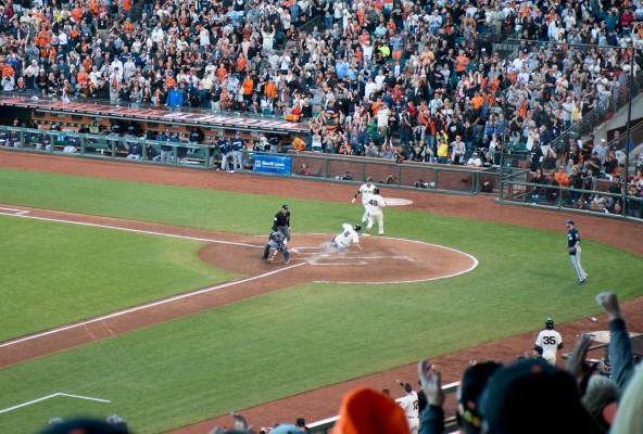 The Giants scored runs. A lot of runs. Photo by Lola M. Chavez