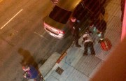 A shooting victim in front of 1760 Mission street. Photo courtesy of Cody Haven.