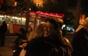 Gloria La Riva hugs a friend celebrating the release of the Cuban Five. Photo by Laura Wenus