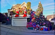 The Christmas display at  3560 21st St. Photo by  Peretz Partensky.