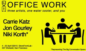 OFFICE WORK // Three Artists, One Water Cooler, and You @ StoreFrontLab | San Francisco | California | United States