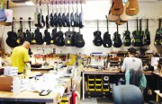 Inside Blackbird Guitars' warehouse, located on Folsom Street. Photo by Meira Gebel.