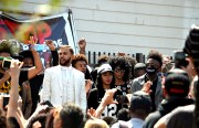 Jidenna and Janelle Monáe, center, meet the crowd. Photo by Cristiano Valli
