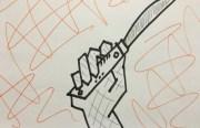 Drawing of folding knife