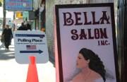 The polling station at Bella Salon. Photo by Joe Rivano Barros.