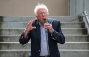 Bernie Sanders at CCSF Mission Campus.  Photo by Lola M. Chavez