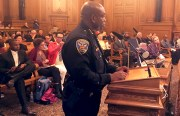 Acting San Francisco Police Chief Toney Chaplin fields questions about police reform at Board of Supervisors hearing on October 4. Photo by Laura Waxmann