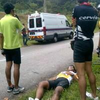 Cyclist Crashes at Hulu Langat