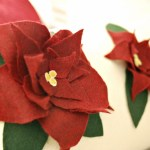 Poinsettia Felt Pillow