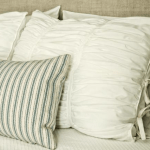 Ruched Fabric Pillows
