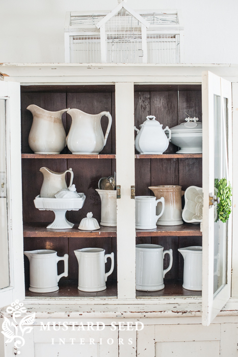 ironstone | antique hutch