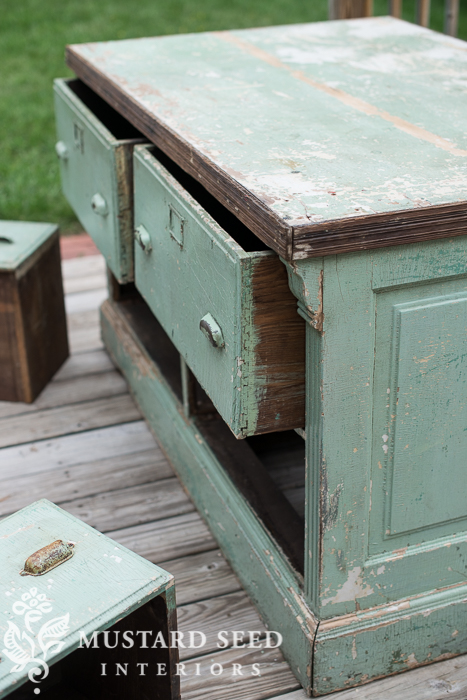 antique counter | miss mustard seed