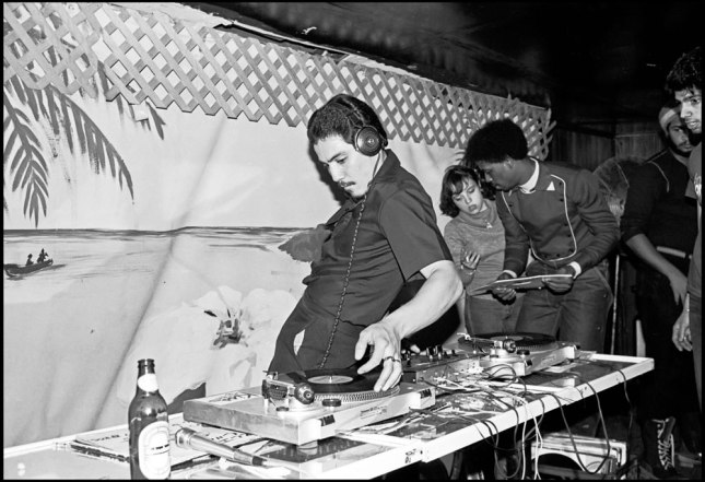 Charlie Chase of the Cold Crush Brothers at Club Negril, 1981. Photograph by Joe Conzo